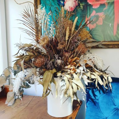 dried floral arrangement